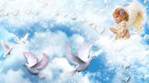cherub angel with holy spirit