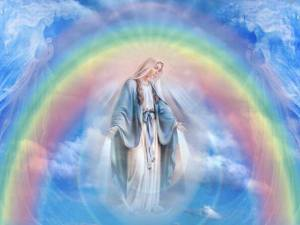 mother mary and rainbow